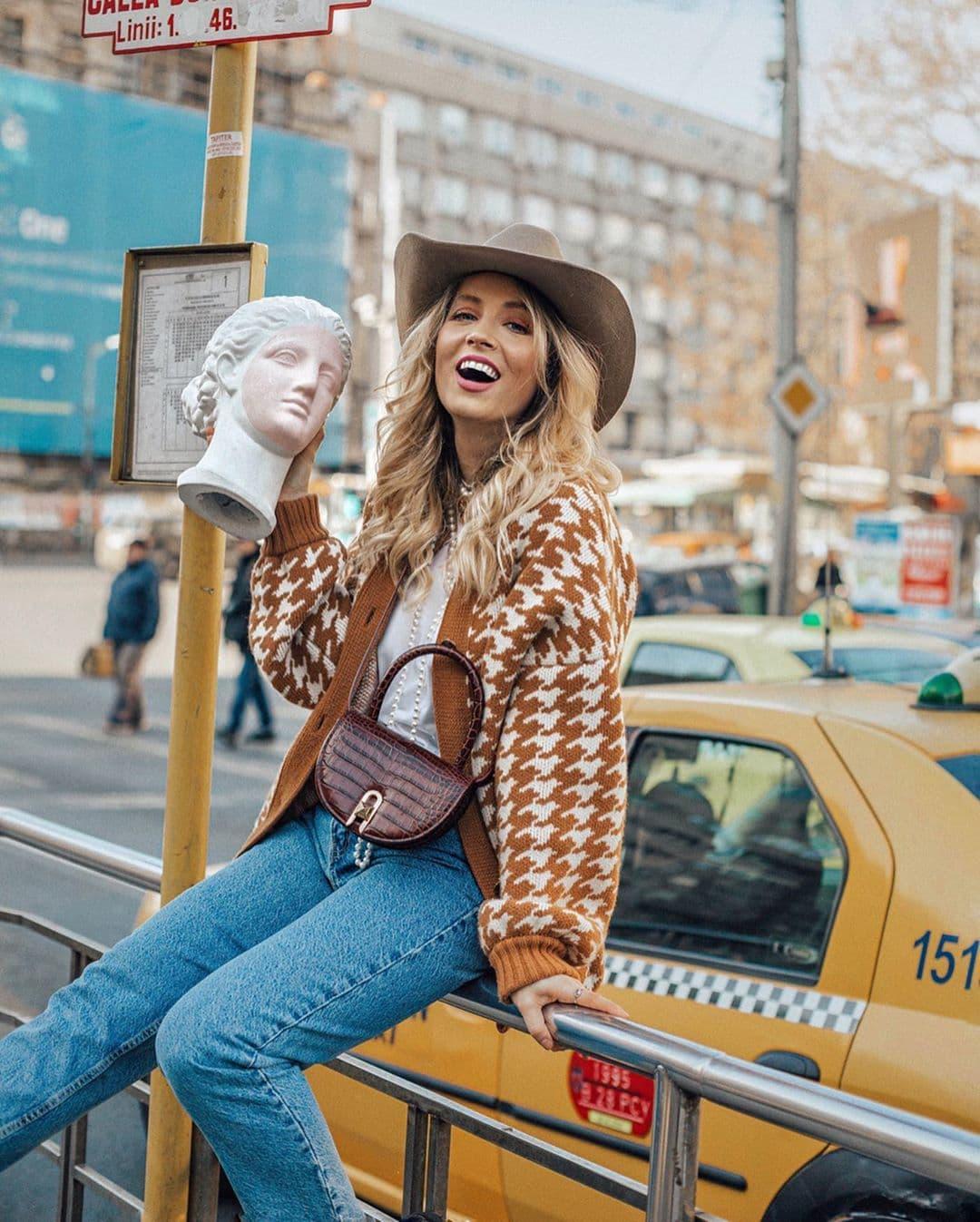 Chapeau en feutre de laine - Style cowboy unisexe