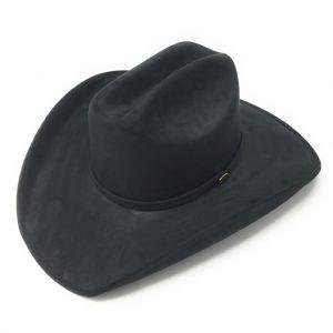 Chapeau de cowboy noir effet suède