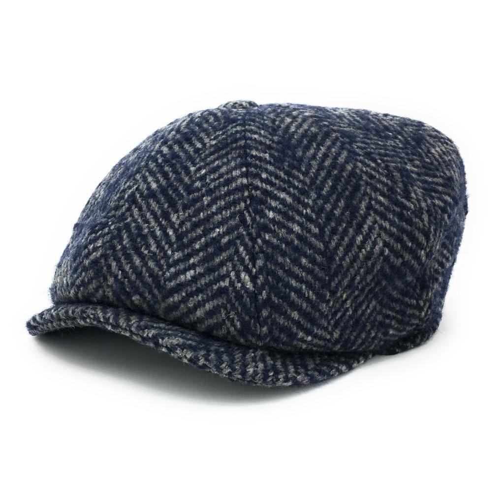 Casquette Gavroche Chunky Tweed à Chevrons
