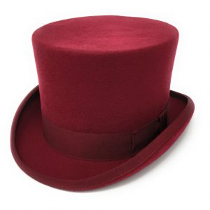 Chapeau haut de forme rouge Cotswold Country Hats