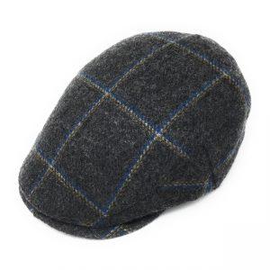 Casquette plate en tweed de laine