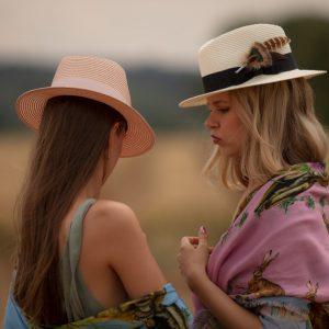 Chapeau de soleil d'été en paille Pigeonnier